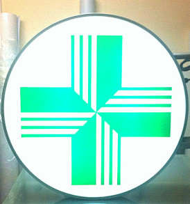 PI-Pharmacy-projecting-Sign-outdoor-R70-logo-circle-light-box