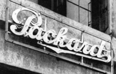 Packard motorcars neon sign