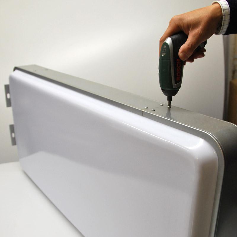 45x100cm Rectangular Horizontal Projecting Light Box Led