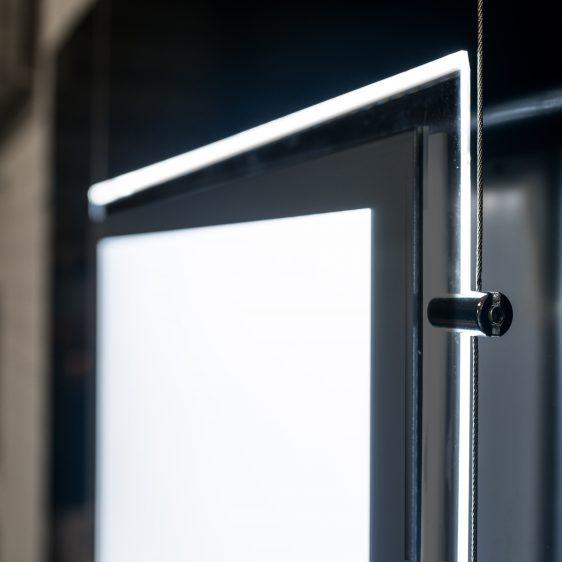 Grey Securit A3 Window Display Frame